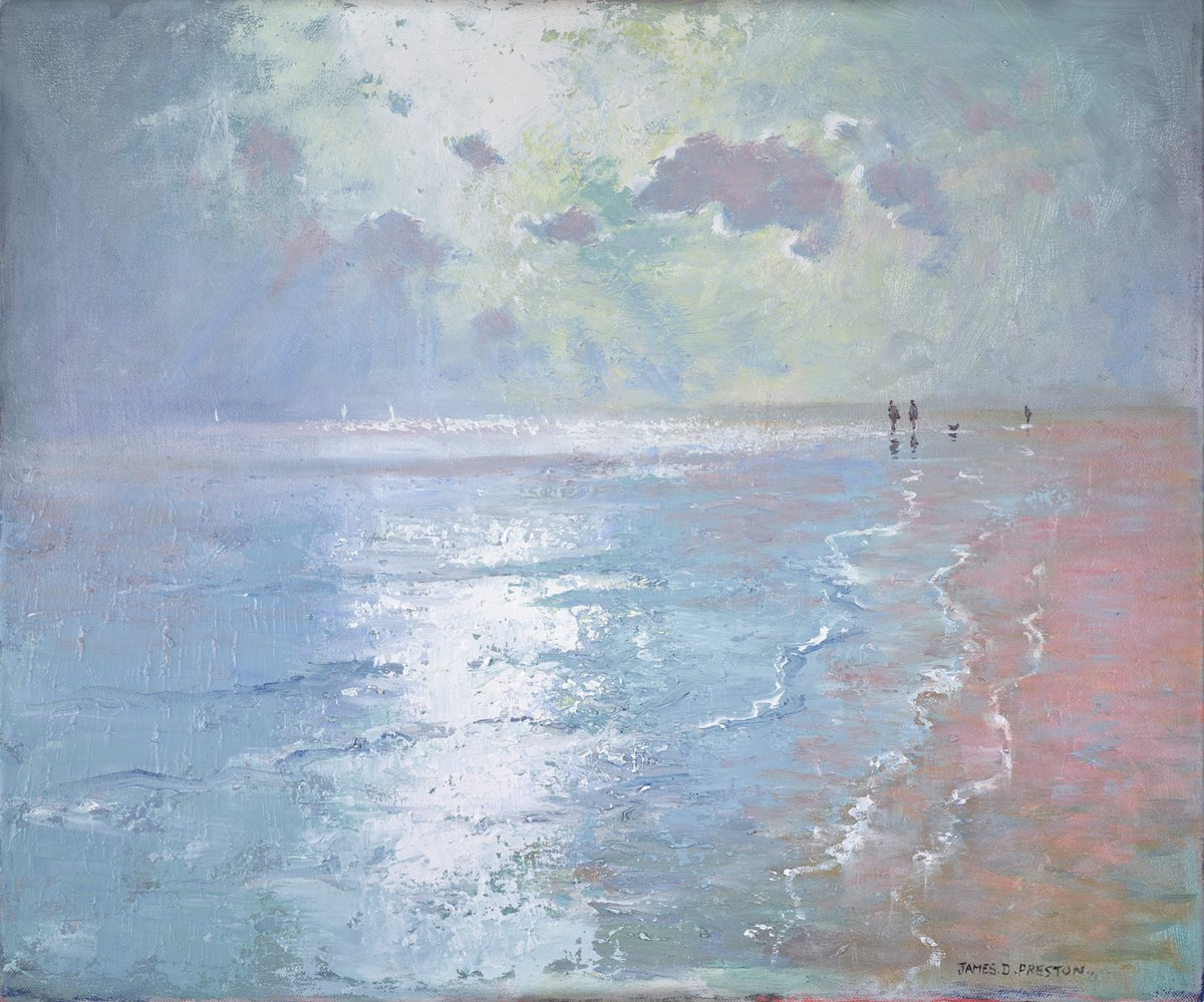 Beach Scene by james preston -  sized 24x20 inches. Available from Whitewall Galleries
